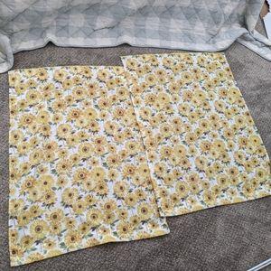 Sunflower Kitchen curtains 2 tiers